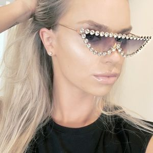 Fendi Accessories - New!!! Fendi Rhinestone Sunglasses